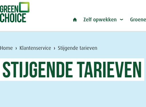 Lees meer over het artikel Stijgende tarieven (Greenchoice)